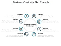 Business Continuity Plan Example Ppt PowerPoint Presentation Gallery Summary Cpb