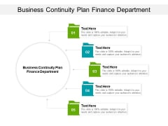 Business Continuity Plan Finance Department Ppt PowerPoint Presentation Pictures Example Cpb