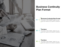 Business Continuity Plan Format Ppt PowerPoint Presentation Topics Cpb