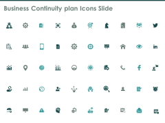 Business Continuity Plan Icons Slide Gear Ppt PowerPoint Presentation Layouts Format Ideas