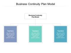 Business Continuity Plan Model Ppt PowerPoint Presentation Pictures Show Cpb