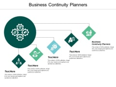 Business Continuity Planners Ppt Powerpoint Presentation Infographics Elements Cpb