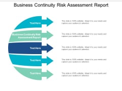 Business Continuity Risk Assessment Report Ppt PowerPoint Presentation Infographics Ideas Cpb