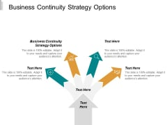 Business Continuity Strategy Options Ppt PowerPoint Presentation Infographic Template Maker Cpb