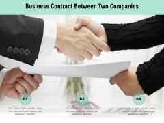 Business Contract Between Two Companies Ppt PowerPoint Presentation File Design Templates