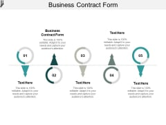 Business Contract Form Ppt PowerPoint Presentation Infographic Template Mockup Cpb