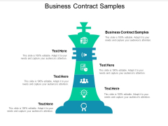 Business Contract Samples Ppt PowerPoint Presentation Outline Vector