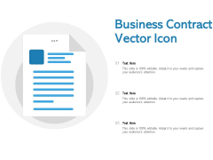 Business Contract Vector Icon Ppt PowerPoint Presentation File Design Templates