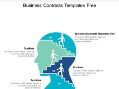 Business Contracts Templates Free Ppt PowerPoint Presentation Portfolio Examples Cpb
