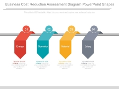 Business Cost Reduction Assessment Diagram Powerpoint Shapes