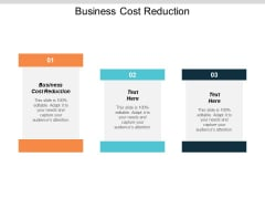Business Cost Reduction Ppt PowerPoint Presentation Outline Visual Aids Cpb