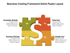Business Costing Framework Dollar Puzzle Layout Ppt PowerPoint Presentation Summary Guide PDF