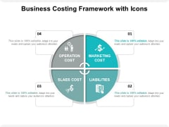 Business Costing Framework With Icons Ppt PowerPoint Presentation Visual Aids Show PDF