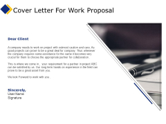 Business Cover Letter For Work Proposal Ppt Ideas Icons PDF