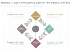 Business Creation And Acquiring Example Ppt Sample Download