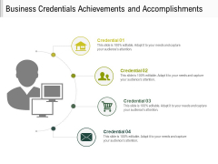 Business Credentials Achievements And Accomplishments Ppt PowerPoint Presentation File Inspiration PDF
