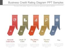 Business Credit Rating Diagram Ppt Samples