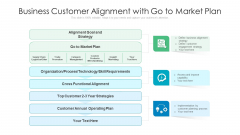 Business Customer Alignment With Go To Market Plan Ppt PowerPoint Presentation File Outline PDF