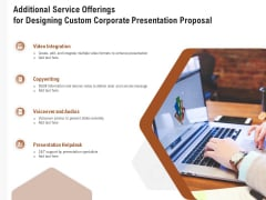 Business Customizable Additional Service Offerings For Designing Custom Corporate Presentation Proposal Graphics PDF
