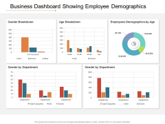Business Dashboard Showing Employee Demographics Ppt PowerPoint Presentation File Slideshow PDF
