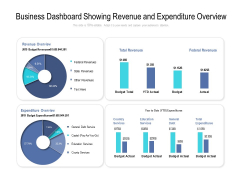 Business Dashboard Showing Revenue And Expenditure Overview Ppt PowerPoint Presentation Portfolio Styles