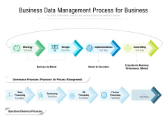 Business Data Management Process For Business Ppt PowerPoint Presentation Pictures Ideas PDF