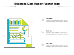 Business Data Report Vector Icon Ppt PowerPoint Presentation Show Microsoft PDF