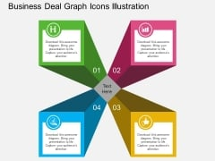 Business Deal Graph Icons Illustration Powerpoint Template