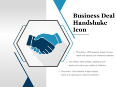 Business Deal Handshake Icon Ppt PowerPoint Presentation Layouts Inspiration