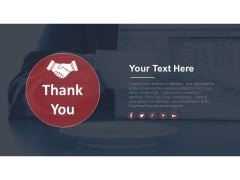 Business Deal Thank You Design Powerpoint Slides