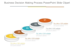 Business Decision Making Process Powerpoint Slide Clipart
