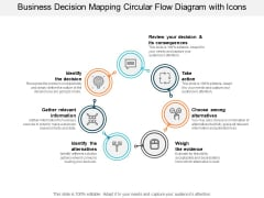 Business Decision Mapping Circular Flow Diagram With Icons Ppt PowerPoint Presentation Inspiration Template