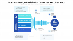 Business Design Model With Customer Requirements Ppt PowerPoint Presentation Gallery Mockup PDF