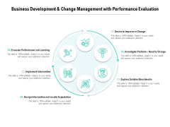 Business Development And Change Management With Performance Evaluation Ppt PowerPoint Presentation Styles Templates