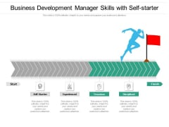 Business Development Manager Skills With Self Starter Ppt PowerPoint Presentation Outline Introduction PDF