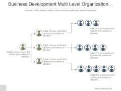 Business Development Multi Level Organization Hierarchy Ppt PowerPoint Presentation Pictures