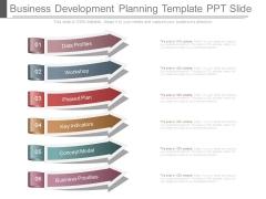 Business Development Planning Template Ppt Slide