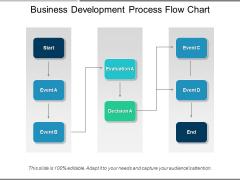 Business Development Process Flow Chart Ppt PowerPoint Presentation Icon Show