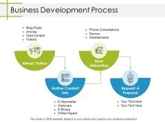 Business Development Process Ppt PowerPoint Presentation Model Infographic Template
