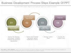 Business Development Process Steps Example Of Ppt