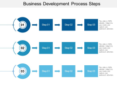Business Development Process Steps Ppt PowerPoint Presentation File Graphics Design