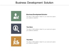Business Development Solution Ppt PowerPoint Presentation Summary Professional Cpb