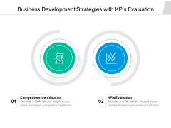 Business Development Strategies With Kpis Evaluation Ppt PowerPoint Presentation Layouts Example PDF