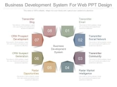 Business Development System For Web Ppt Design