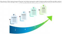 Business Development Team Achievement With International Diversification Ppt Infographics Display PDF