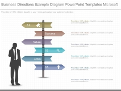 Business Directions Example Diagram Powerpoint Templates Microsoft