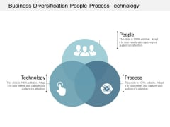 Business Diversification People Process Technology Ppt Powerpoint Presentation Gallery Icon