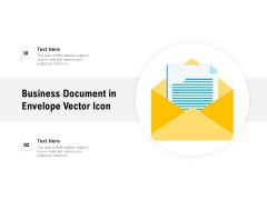 Business Document In Envelope Vector Icon Ppt PowerPoint Presentation Layouts Vector PDF