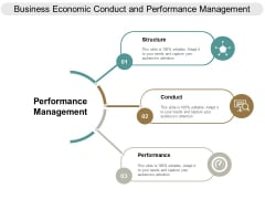 Business Economic Conduct And Performance Management Ppt Powerpoint Presentation Pictures Designs Download