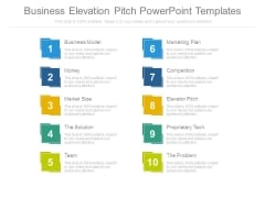 Business Elevation Pitch Powerpoint Templates